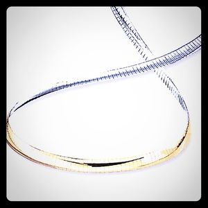 10kt gold and sterling .925 silver necklace